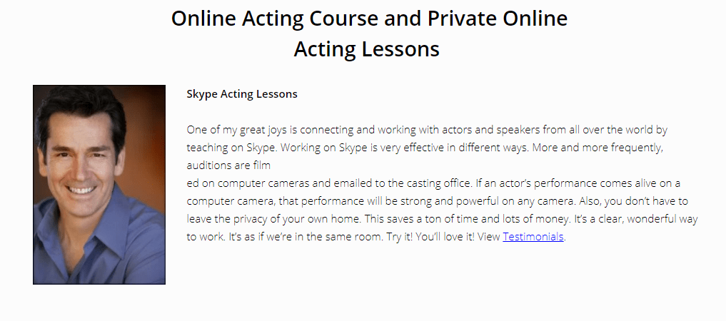 The World's Top 10 Online Acting Courses - Jeffrey Meek